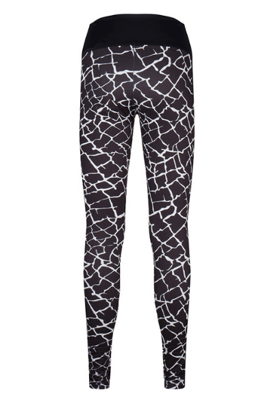 black printed sports leggings 36L