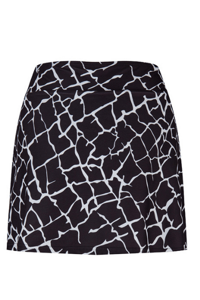 black & white sports skirt